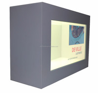 23 inch LCD transparent touch screen with show box for natural stone jewelry