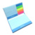 Hard cover printing colorful LOGO custom sticky notes memo