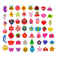 Rubber Cute Charms Findings For Loom Rubber Bands Bracelet Making Crafts Mixed Color