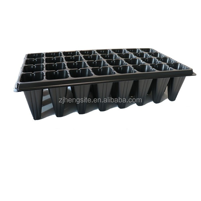 Super Quality Black Shining PS Material Plastic Plant Seed Nursery