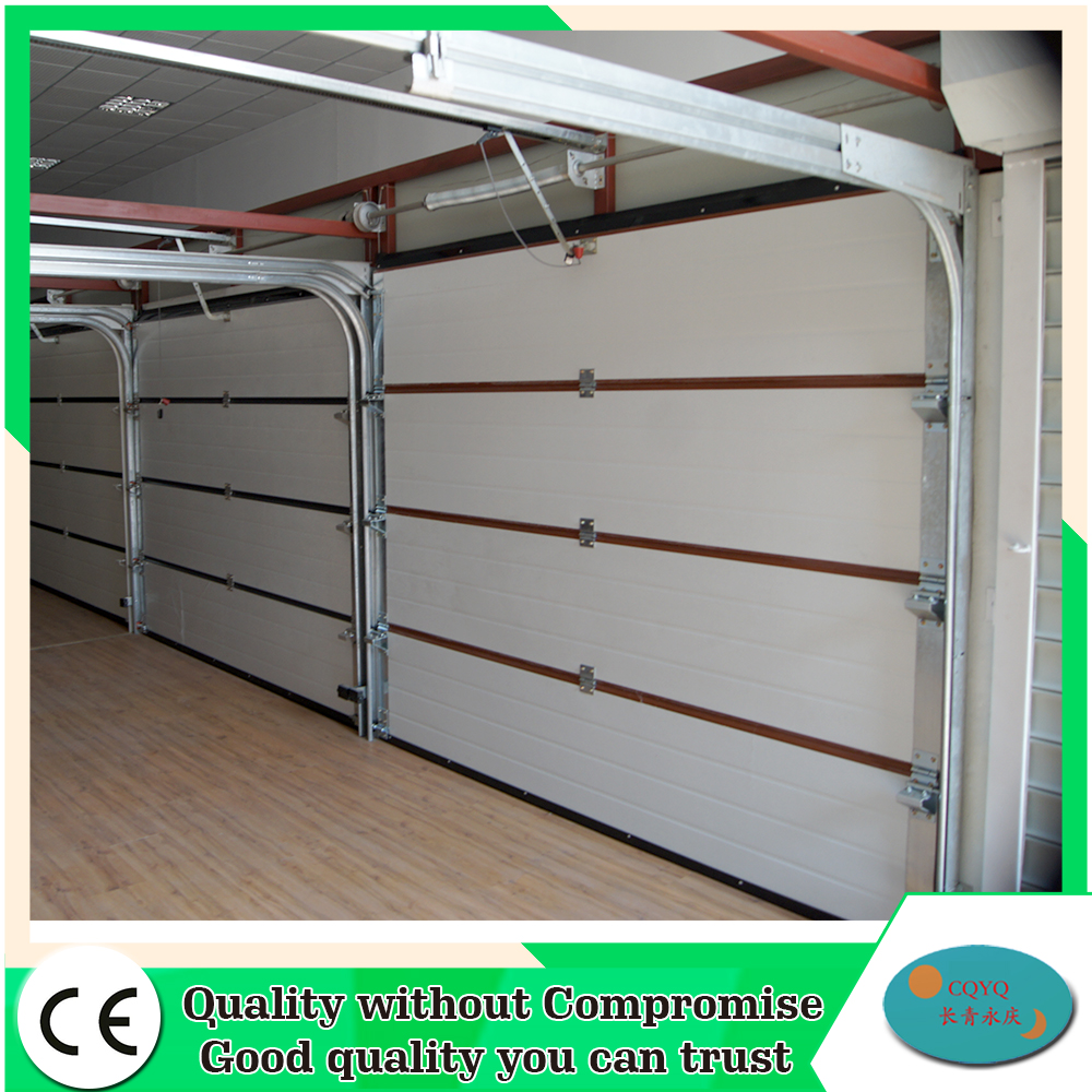 China 5 panel cheap steel garage doors