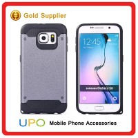 [UPO] Strong shockproof dual layer flexible rubber bumper Slim armor Hard plastic back combo phone case for samsung galaxy s6