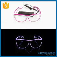 Factory supply novel design glow in dark sunglasses for wholesale