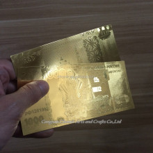 Hot sale personal collection complete set of Russian ruble gold banknote