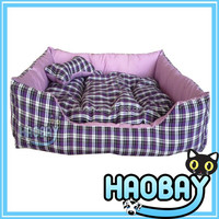 Lattice Lounger Pet Bed Purple Pet Bed For Dog With Pillow