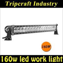 super bright One Row 160w spot led light bar 38inch led light bar 4x4 high power led light bar
