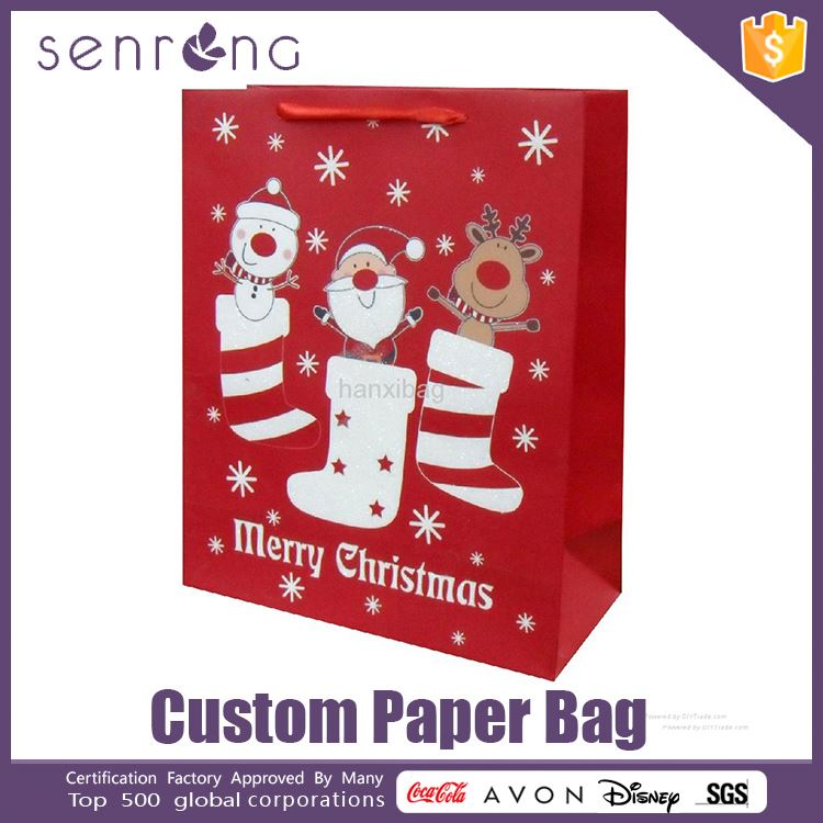 hand paper bag with wheels foil stamping paper bag
