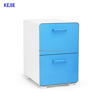 China Popular Sale 2 Drawer Metal File Cabinet Steel File Cabinets Drawer Cabinet with Wheels