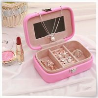 PU leather Elegant decorative big lots jewelry box