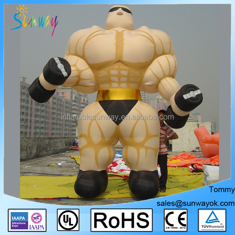 Inflatable Muscle Advertising Man