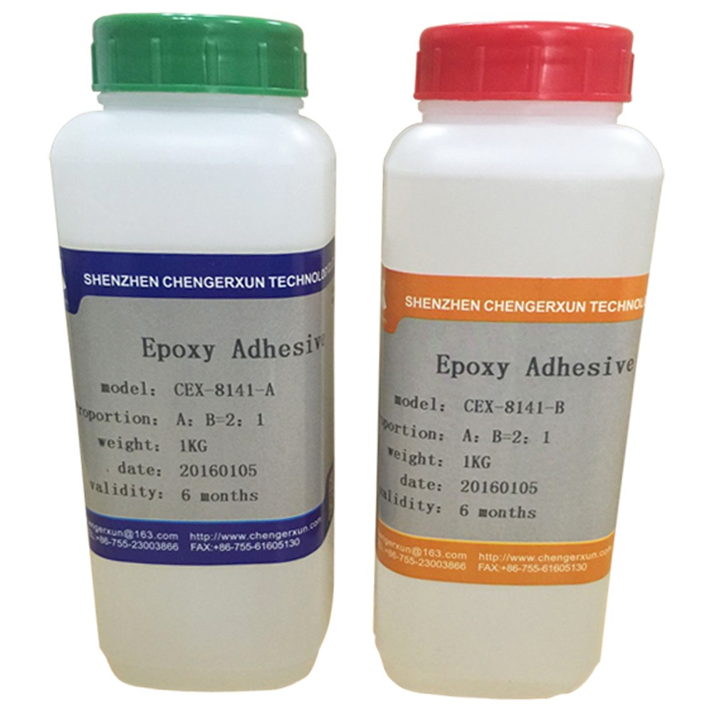acidproof alkaliproof hard transparent two components AB epoxy glue