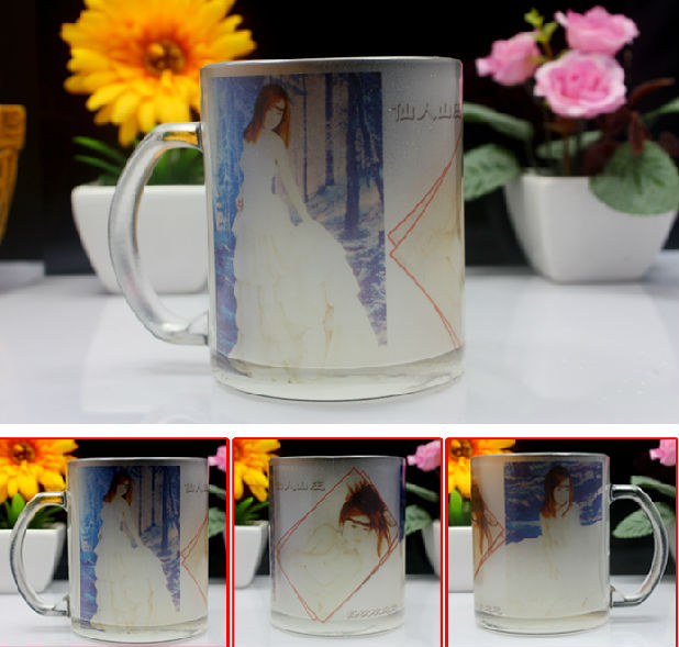 wholesale 11oz heat transfer blanks sublimation frosted glass mug