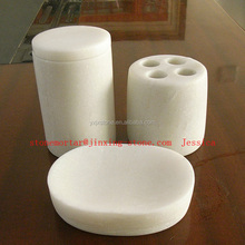 Luxury White Marble 3-Piece Bath Accessory Set