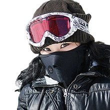 Winter Outdoor Anti-dust Mouth-muffle Windproof Coldproof Snowboard Ski Cycling Half Face Thermal Fleece Facial Shield Mask Neck