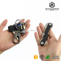 Euramerican Style Brand New Slim Carbon Fiber Key Ring Double-deck Key Organizer for Wholesale