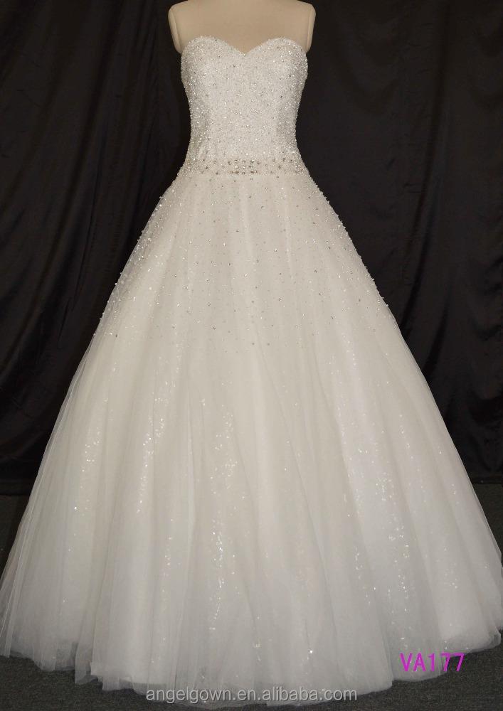 Fashion sleeveless mermaid heavy beaded crystal wedding for Heavy beaded wedding dresses