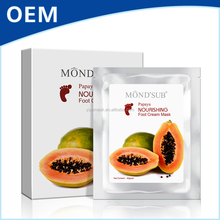 Cosmetic Beauty Supply Papaya Soothing Tendering MONDSUB Cream Foot Mask Private Lable You Can Have