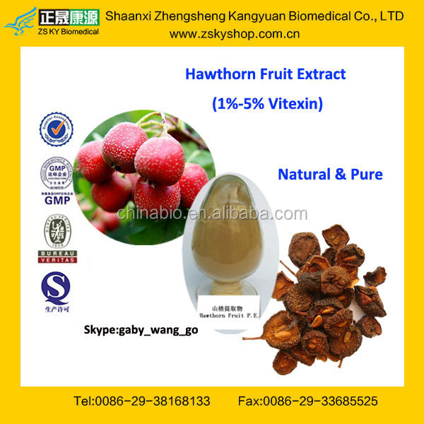GMP Factory Supply Top Quality Hawthorn Fruit P.E.
