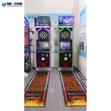 2018 customized online arcade amusement electronic phoenix dart game machine with automatic update /LCD display for bar