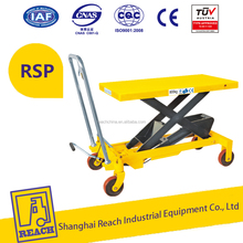 800kg REACH motorcycle hydraulic scissor manual lift table