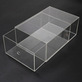 Acrylic Shoes Box Drawer Clear Acrylic Shoes Display Box