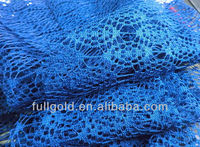 90% acrylic 10% poly lace fabric