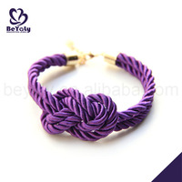 Simple sailer knot rope stainless steel expandable bracelet