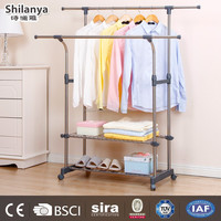 Double Pole Baby Clothes Display Rack