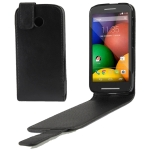 Small Litchi Texture Vertical Flip Leather Case for Motorola Moto E / XT1021
