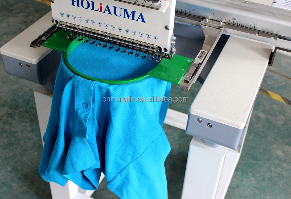 Hot sale 1 head 15 color 3D tubular embroidery machine for happy embroidery life