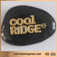 Engraved Black Letter Pebbles Natural River Stones