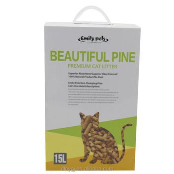 Pet Cleaning Grooming Products Flushable Pine Wood Cat Litter Wholesale
