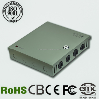 Factory direct sale Hot 120W-12V 10A 9CH/9Channels Output Mode CCTV Power Supply/ CCTV Power Box