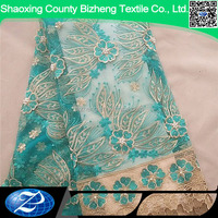 French Lace Fabric / Hot African Embroidery Guipure Tulle Lace / Fashion Stones Mesh