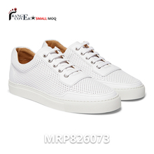 China Zapatos Para Mujer Small Quantity Customized White Men's Leather Shoes