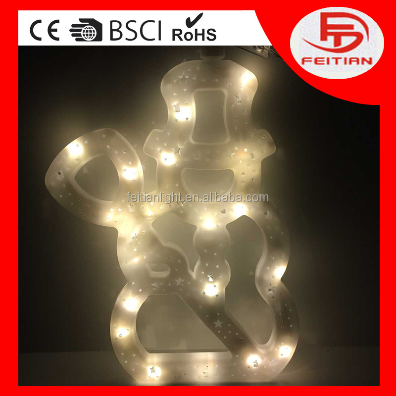 Christmas snowman light small battery operated led light CE Rohs BSCI Wal-Mart led battery light