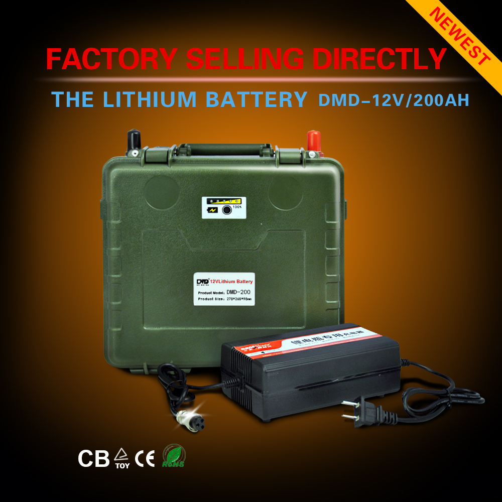 12 Volt 100Ah 200Ah Emergency Light Solar Energy Storage Lithium ion Battery Pack