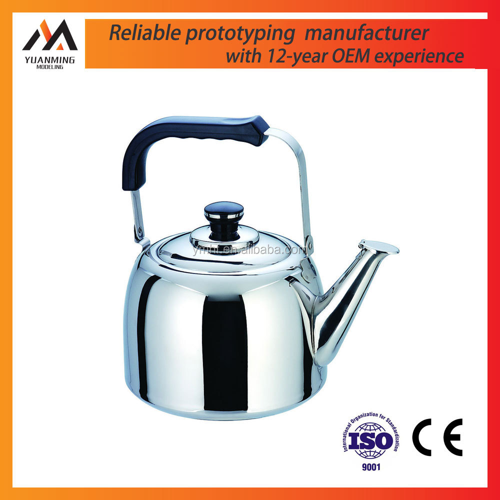 manufacturer cnc machining stainless steel polish electric whistle tea kettle rapid prototype