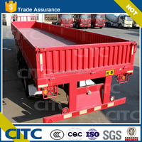 3Axles lorry container trailer with detachable open boards