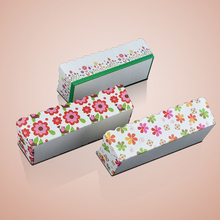 Bakest 2018 new design big size rectangle baking <strong>paper</strong> cups with printing flowers