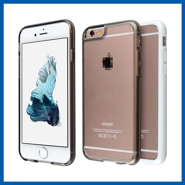 C&T Enhanced Clear PC Back Case TPU Colorful Bumper High Impact Mobile Cover For Iphone 6 Plus