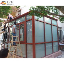 Customized aluminum sunroom nice glass house manufacturers outdoor garden room
