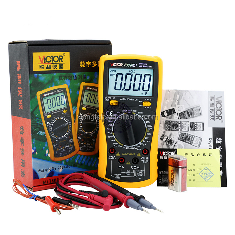 Handheld LCD Digital Multimeter VC890C+