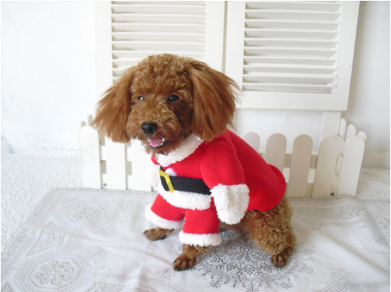 2016 christmas dog clothes cosplay costume christmas dog costume