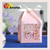 Gift packaging Box Laser Cut Decorate chiristmas Favor Boxes butterfly favor box with ribbon