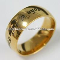 2013 letters ring man vogue Christmas vners ring latest gold ring designs Manufacturer & Factory & Supplier