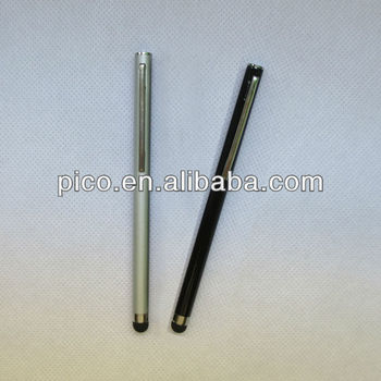 Simple Cheap Price Silver Black Color Stylus Pen Touch Screen Pen With Senstive Tip