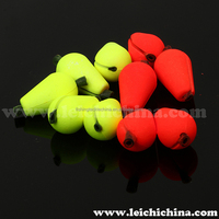 foam bobber fly fishing tear drop strike indicator / bobber