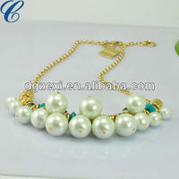 Charm Pearl Gold Chain Necklace