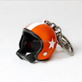 Custom your own design helmet keychain/3d pvc key chain/custom plastic keychain with logo